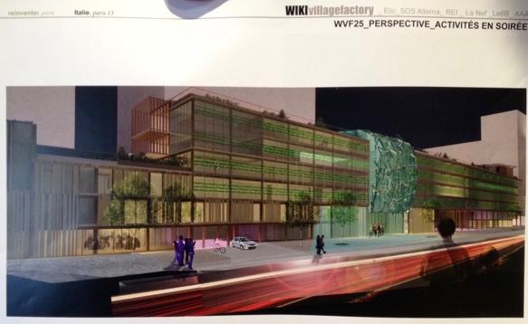 Le projet atelier d'architecture autogérée est dénommé Wiki Village Factory (WVF)